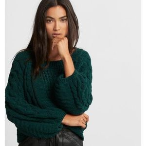 {Express} Cable Knit Balloon Sleeve Sweater! Small